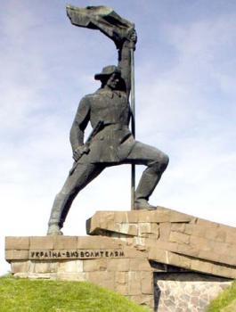 Ужгород. Пам'ятник Воїну-визволителю на українсько-словацькому кордоні
