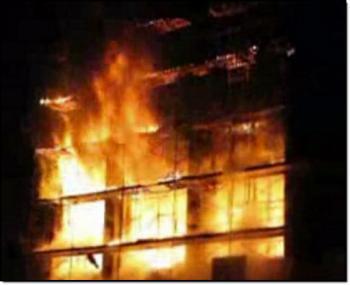 Пожар уничтожил Святопантелеимоновский православный храм