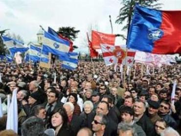 9 мая в Грузии начались акции протеста