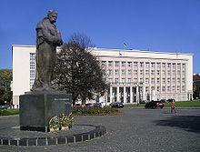 Ужгород, пл. Народна, пам'ятник Тарасу Шевченку