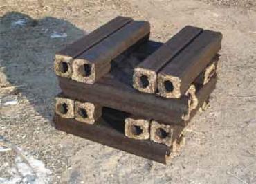 В Межгорье заработала линия по изготовления из опилок топливных брикетов