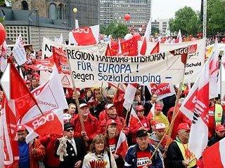 Марш протеста в Берлине