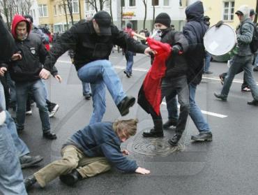Массовая драка в Амвросиевке (Донецкая область)