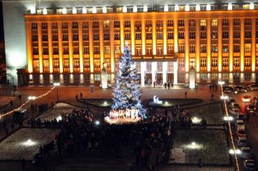 Главная елка Закарпатья зажглась под традиционный рождественский «Щедрик»