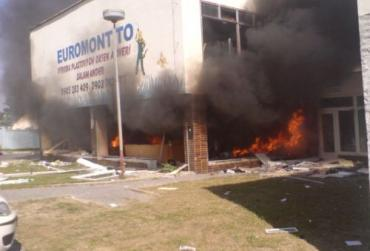 В Словакии человек пытался бомбой взорвать магазин и ...погиб