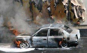 В Мукачево ночью подожгли машину