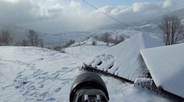 Синевир в плену снега