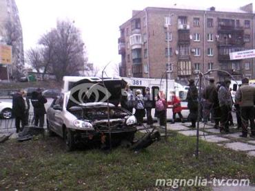 ДТП произошло на бульваре Леси Украинки в Печерском районе столицы