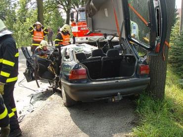 В Чехии два автомобиля разбились вдребезги