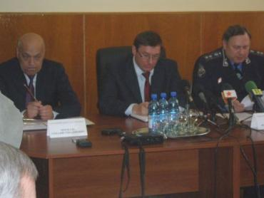 В Ужгороде завершилась пресс-конференция министра внутренних дел Украины Юрия Луценко