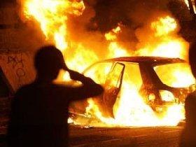 В Хусте горел автомобиль ВАЗ 2101