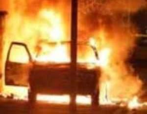 В Ильнице загорелся автомобиль во время движения