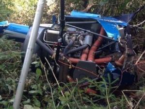 ДСНС повідоми про знайдений літак та тіло чоловіка у Прикарпатті