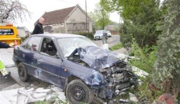 ДТП в Польше: BMW после аварии