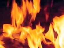 В с.Холмовец тушили пожар