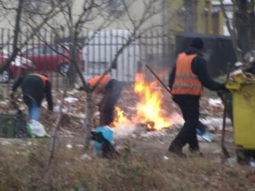 Утилизация мусора сотрудниками ужгородского КШЕПа
