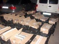 В микроавтобусе нашли 24 ящика сигарет отечественного производства