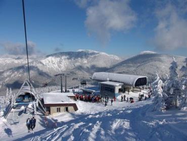 На горнолыжном курорте в Словацких Татрах.