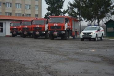 Подразделения ГСЧС Закарпатья получили современные спецавтомобили