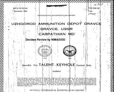 Ужгород в архівах ЦРУ