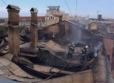 В Кировограде спасатели потушили пожар в казначействе