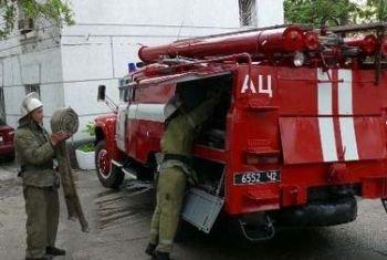 В Мукачево пожарники потушили пожар