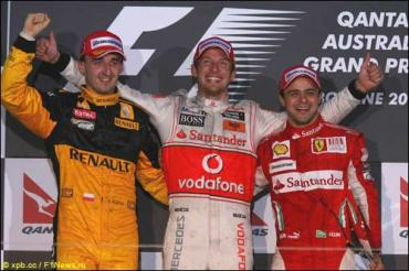 Гран При Австралии: Баттон - Кубица - Масса