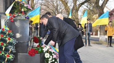 Ужгород. Покладання квітів до пам'ятника Августину Волошину