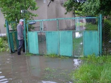 в м.Чоп під водою опинились дворогосподарства, підвали та будинки