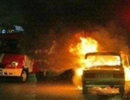 На Закарпатье горят автомобили