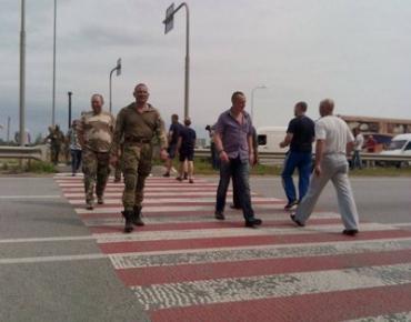 Участники АТО требовали свои участки, перекрыв трассу Киев-Чоп