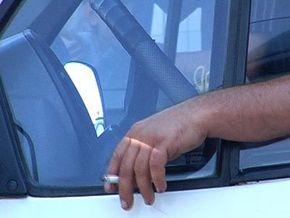 Водители, не курите за рулем