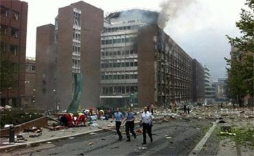 У здания норвежского правительства прогремел мощный взрыв