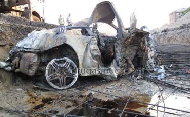 На Столичном шоссе разбился и сгорел Porsche 911 Carrera 4 S