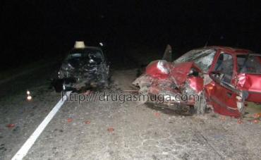 В Винницкой области Mitsubishi Lancer протаранил Daewoo Lanos
