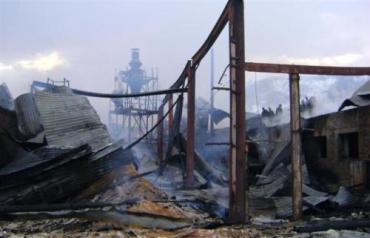 В Закарпатье загорелся цех в деревообрабатывающем цеху