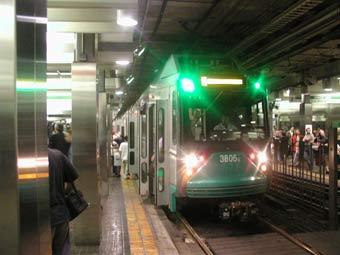 Поезд на Зеленой ветке бостонского метро