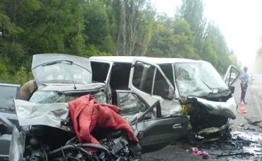 Ужасное ДТП в Днепропетровской области, 10 пострадавших