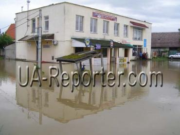 Закарпатье. В Мукачевский район также пришла большая вода