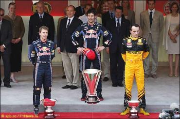 Формула-1. Гран При Монако: Уэббер - Феттель - Кубица