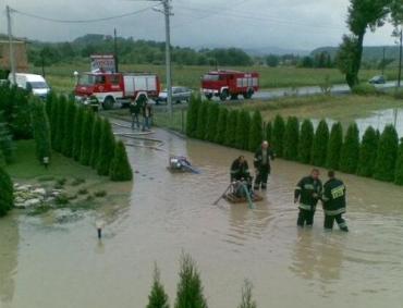 В Польши затоплены дома и дороги, людям пришлось спасаться от воды на деревьях
