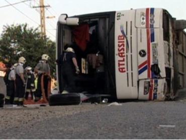 ДТП в Венгрии: перевернулся автобус с туристами