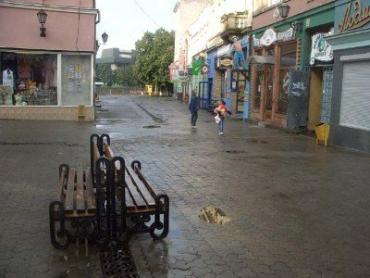 В Ужгороде небольшой кратковременный дождь