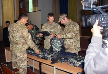 Бойцы батальйона получили бронежилеты 6-ой степени защиты