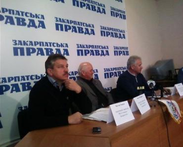Представники клубу «Говерла-Закарпаття» на прес-конференції