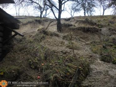 В Воловецком районе из-за оползня повредился жилой дом