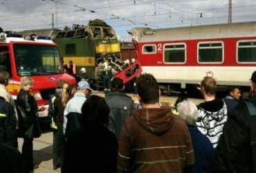 В Словакии столкнулись пассажирский и грузовой поезда