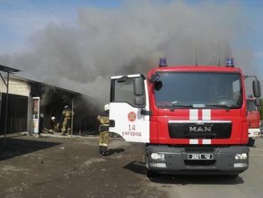 На Радванке в Ужгороде горел рынок