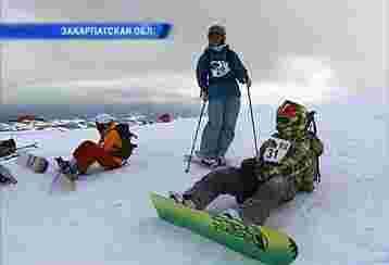 На соревнованиях по фрирайду в Закарпатье