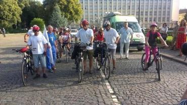 Ветеранский велопробег Ужгород-Киев ко Дню Независимости